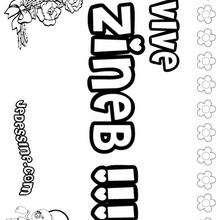 Zineb - Coloriage - Coloriage PRENOMS - Coloriage PRENOMS LETTRE Z