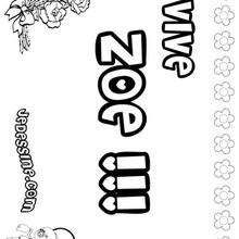 Zoe - Coloriage - Coloriage PRENOMS - Coloriage PRENOMS LETTRE Z