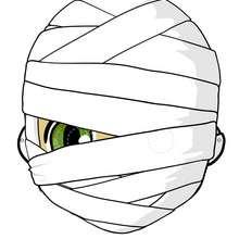 Masque de Momie - Activités - BRICOLAGE HALLOWEEN - Masques d'Halloween à imprimer