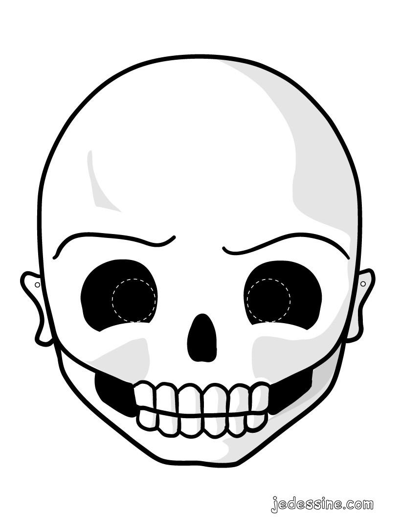 activit s manuelles masque de squelette. Black Bedroom Furniture Sets. Home Design Ideas