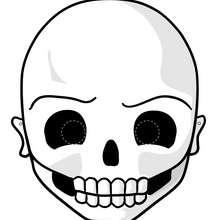 Masque de Squelette - Activités - BRICOLAGE HALLOWEEN - Masques d'Halloween à imprimer