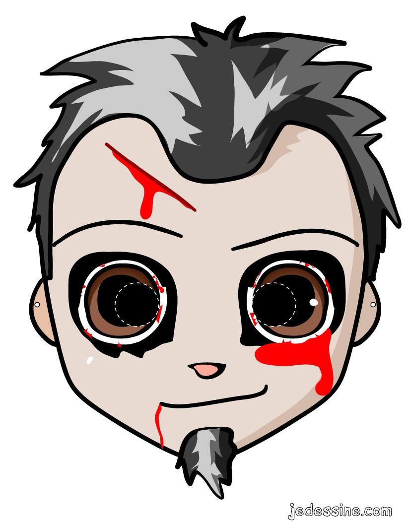 Bien connu Activités manuelles masque de zombie - fr.hellokids.com YQ13