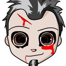 Masque à imprimer : Masque de Zombie