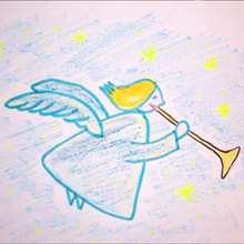 Un ange de Noël - Dessin - Apprendre à dessiner - Dessiner des personnages de Noël