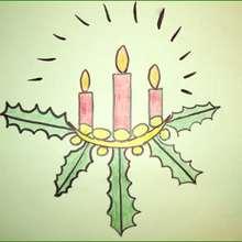 Tuto de dessin : Bougies de Noël