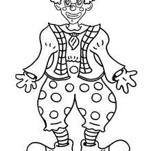 Coloriage d'un clown