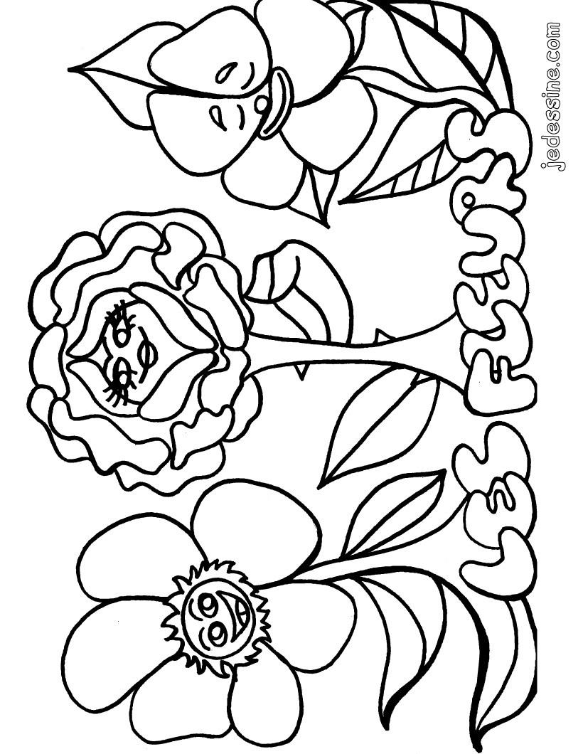 Coloriage fleur simple - Fleur coloriage ...