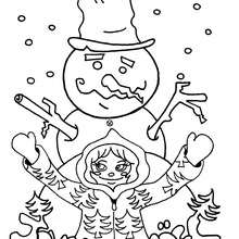 Coloriage de Joyeux Noël ! - Coloriage - Coloriage FETES - Coloriage NOEL - Coloriage NOEL EN LIGNE