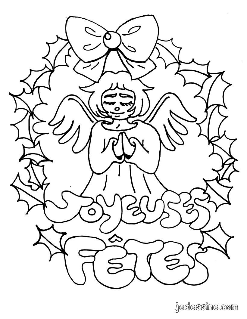Coloriages coloriage d 39 un ange de no l - Coloriage d ange ...