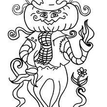 Coloriage d'Halloween : Coloriage de Monsieur Citrouille
