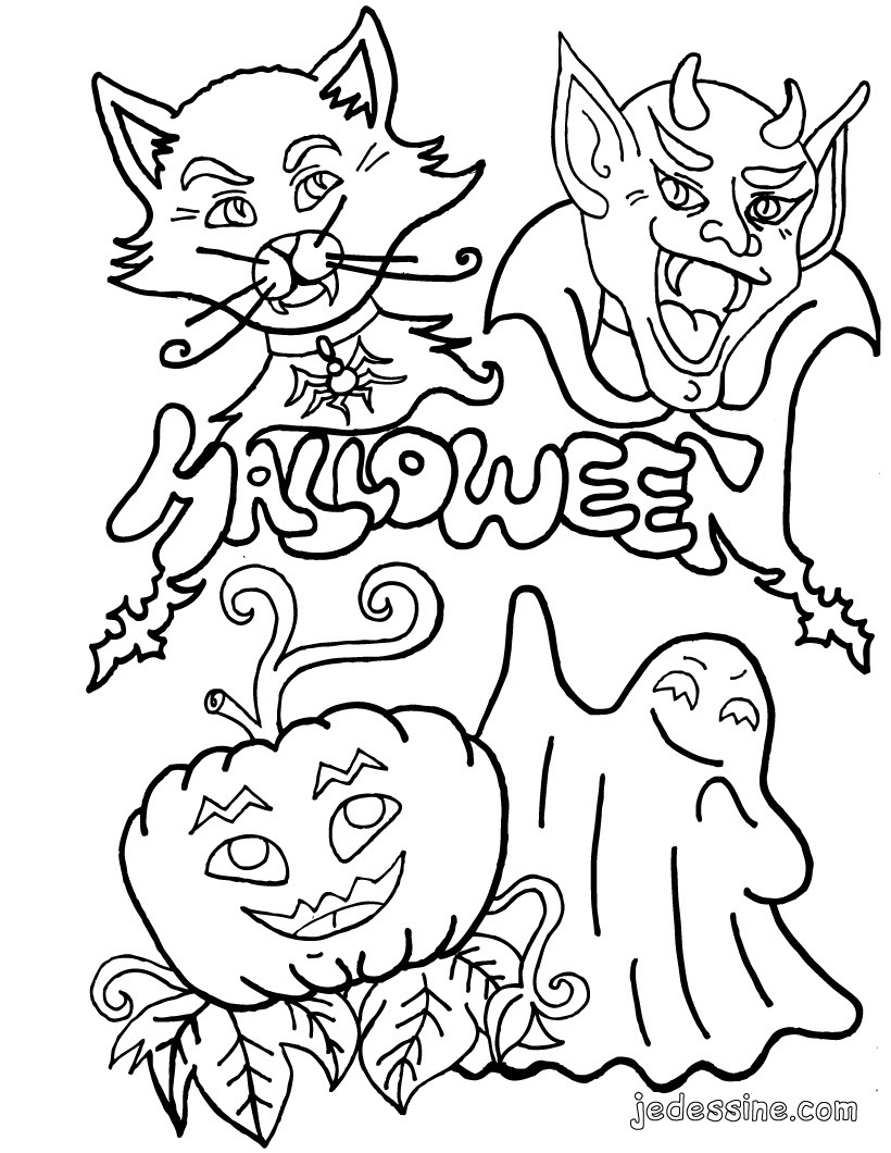 Coloriages coloriage des monstres d 39 halloween - Dessin d alloween ...