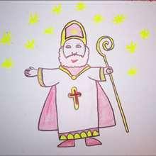 Saint-Nicolas - Dessin - Apprendre à dessiner - Dessiner des personnages de Noël