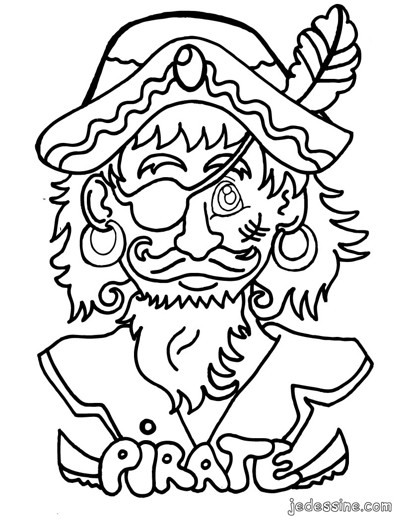 visage de pirate coloriage