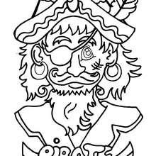 Coloriage d'un pirate - Coloriage - Coloriage A IMPRIMER - Coloriage A IMPRIMER PERSONNAGES - Coloriage de PERSONNAGES HISTORIQUES