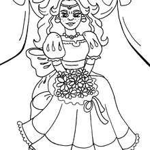 Coloriage d'une princesse - Coloriage - Coloriage A IMPRIMER - Coloriage A IMPRIMER PERSONNAGES - Coloriage de PERSONNAGES HISTORIQUES