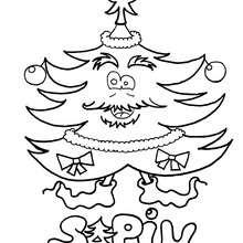 Sapin de Noël rigolo