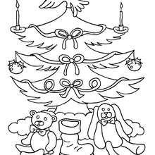 Sapin de Noël et ses décorations