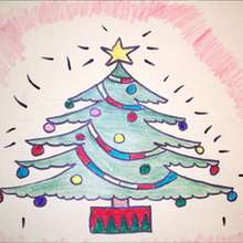 Le sapin de Noël - Dessin - Apprendre à dessiner - Dessiner des personnages de Noël