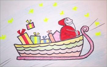 Comment Dessiner Le Traineau Du Père Noël Fr Hellokids Com