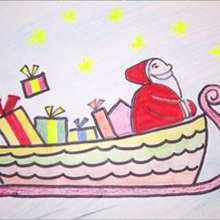 Le traineau du Père-Noël - Dessin - Apprendre à dessiner - Dessiner des personnages de Noël