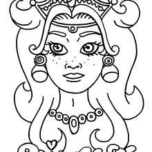 Coloriage d'un visage de princesse