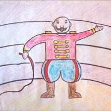 Le dompteur - Dessin - Apprendre à dessiner - Dessiner des personnages du Cirque