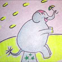 L'éléphant de parade - Dessin - Apprendre à dessiner - Dessiner des personnages du Cirque