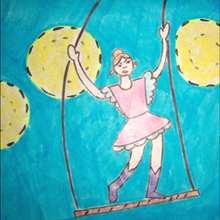 La trapeziste - Dessin - Apprendre à dessiner - Dessiner des personnages du Cirque
