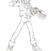 Coloriage de Yu-Gi-Oh : Bastien