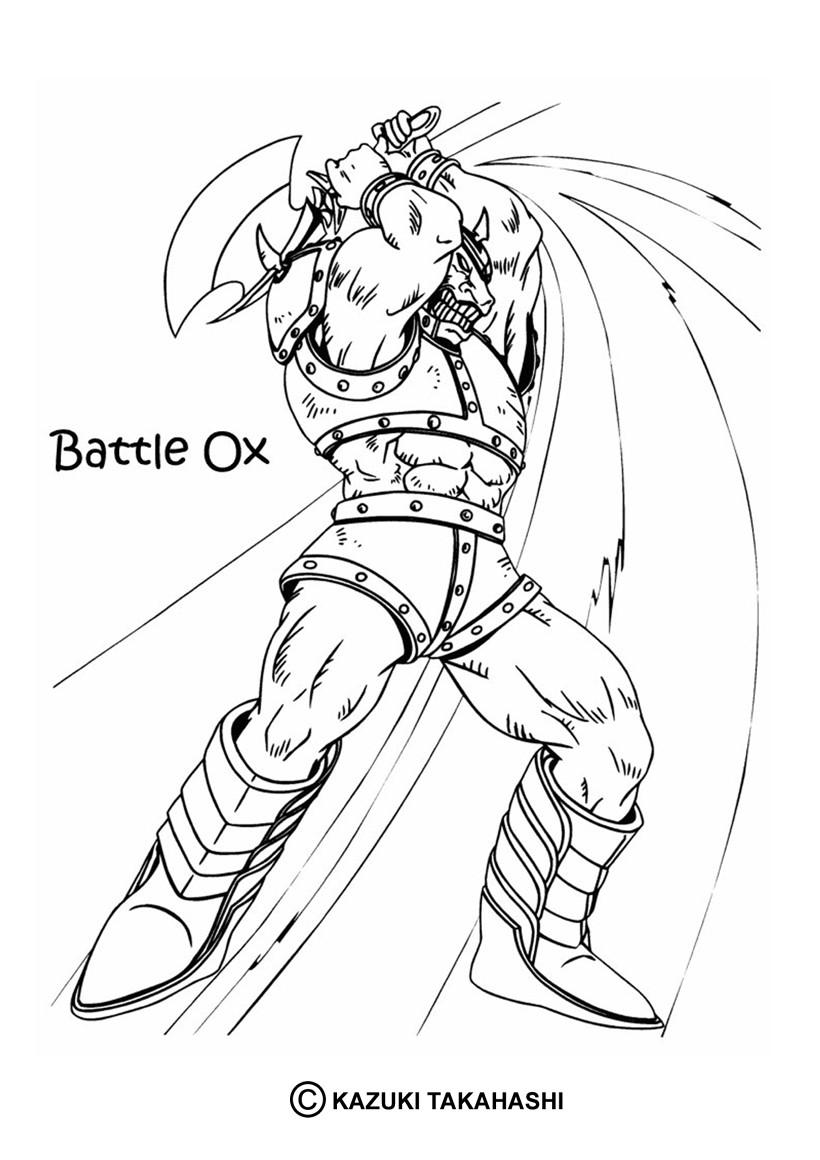 Coloriages coloriage de yu gi oh battle ox - Coloriage yu gi oh ...