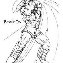 Coloriage de Yu-Gi-Oh : Battle Ox - Coloriage - Coloriage MANGA - Coloriage Yu-Gi-Oh!