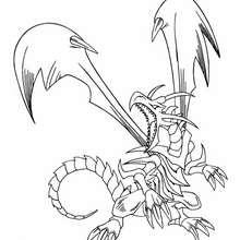 Coloriage de Yu-Gi-Oh : Black Dragon 1 - Coloriage - Coloriage MANGA - Coloriage Yu-Gi-Oh!