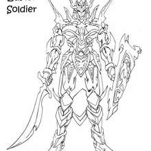 Coloriage de Yu-Gi-Oh : Black Luster Soldier 1
