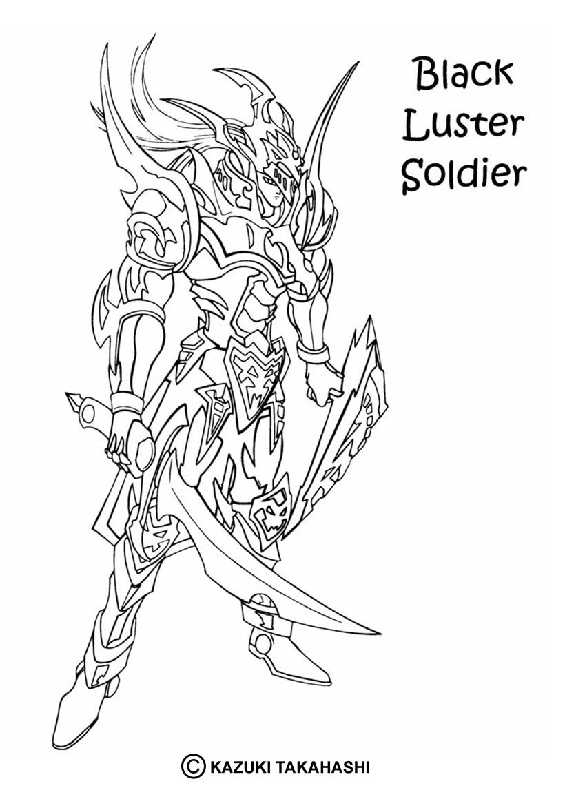 coloriages coloriage de yu gi oh black luster soldier 2 fr