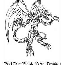 Coloriage de Yu-Gi-Oh : Black Metal Dragon 2 - Coloriage - Coloriage MANGA - Coloriage Yu-Gi-Oh!