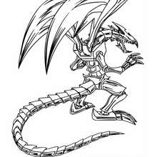 Coloriage de Yu-Gi-Oh : Black Metal Dragon 3