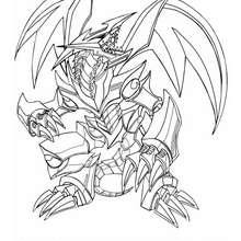 Coloriage de Yu-Gi-Oh : Black Metal Dragon 1