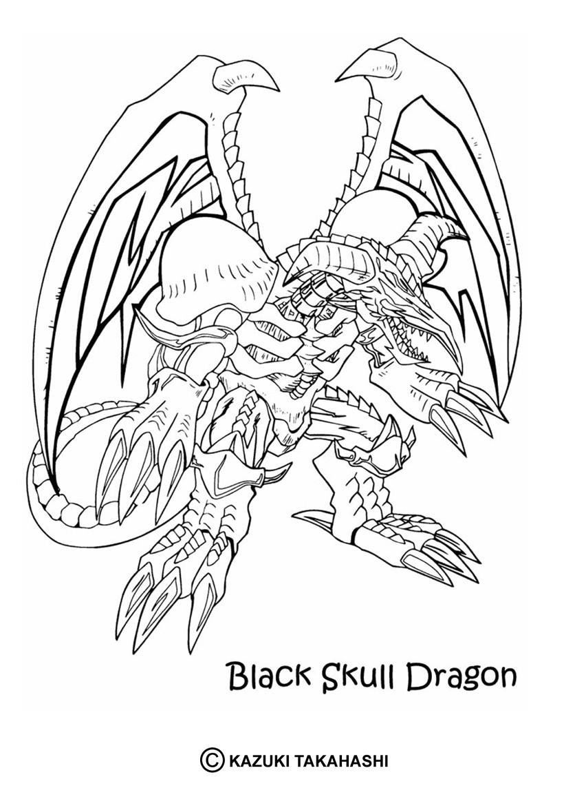 Coloriage de Yu-Gi-Oh : Black Skull Dragon 2