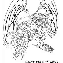 Coloriage de Yu-Gi-Oh : Black Skull Dragon 2 - Coloriage - Coloriage MANGA - Coloriage Yu-Gi-Oh!