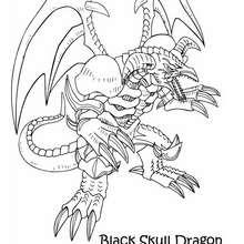 Coloriage de Yu-Gi-Oh : Black Skull Dragon 1 - Coloriage - Coloriage MANGA - Coloriage Yu-Gi-Oh!