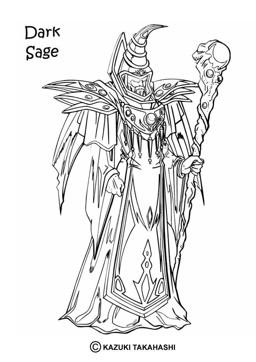 Coloriage de Yu-Gi-Oh : Dark Sage