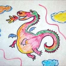 Le dragon - Dessin - Apprendre à dessiner - Dessiner des personnages de Contes