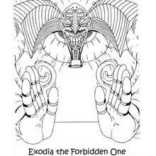 Coloriage de Yu-Gi-Oh : Exodia 2