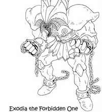 Coloriage de Yu-Gi-Oh : Exodia 3
