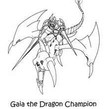 Coloriage de Yu-Gi-Oh : Gaia et le dragon - Coloriage - Coloriage MANGA - Coloriage Yu-Gi-Oh!