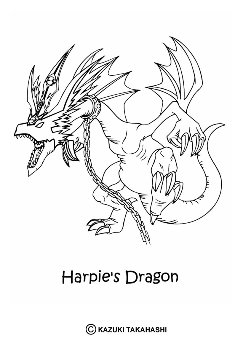 Coloriages coloriage de yu gi oh harpie 39 s dragon - Yu gi oh dessin ...