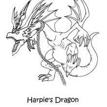 Coloriage de Yu-Gi-Oh : Harpie's Dragon - Coloriage - Coloriage MANGA - Coloriage Yu-Gi-Oh!