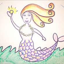 La sirène - Dessin - Apprendre à dessiner - Dessiner des personnages de Contes