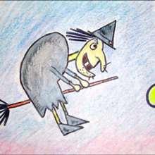 Une sorcière - Dessin - Apprendre à dessiner - Dessiner des personnages de Contes