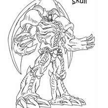 Coloriage de Yu-Gi-Oh : Summoned Skull - Coloriage - Coloriage MANGA - Coloriage Yu-Gi-Oh!